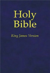 King james version bible stock image. Image of blue, book 16187145.