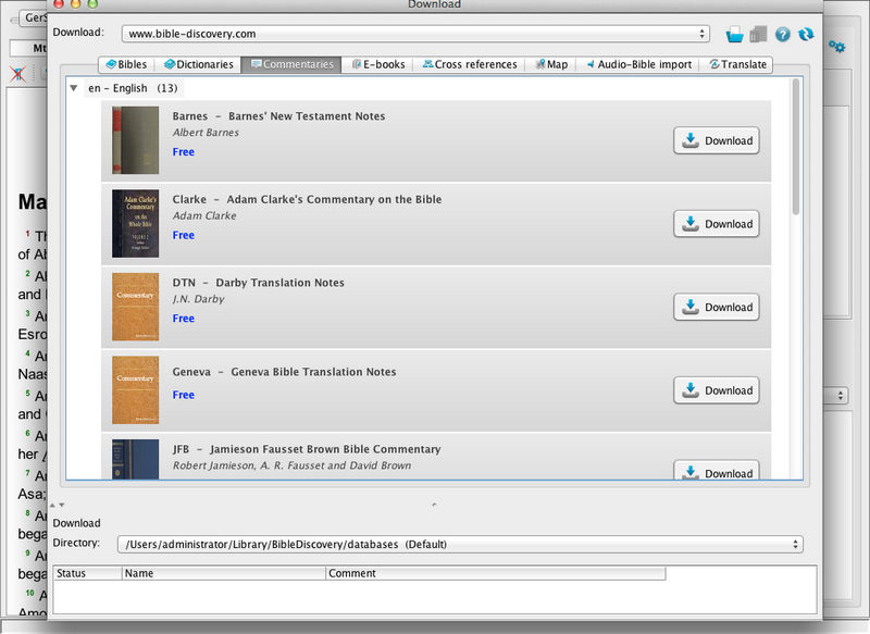 2  Downloading the program and modules (Bible translations