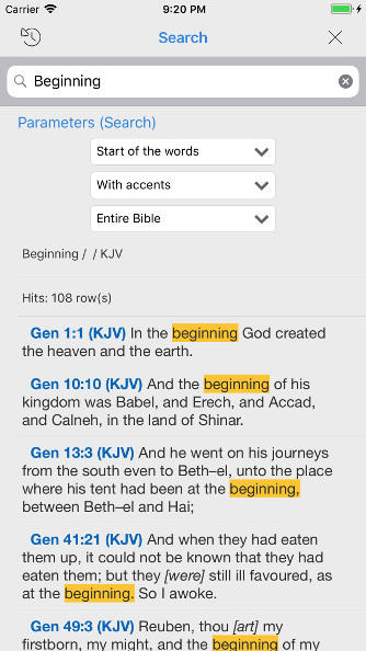 iPhone Bible - search